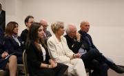 Anna Maria Anselmi Assessore ai Servizi sociali e pari opportunità e Giuseppe Conte