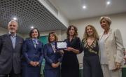 Le manager AdR - G. Caruso - A.M. Anselmi - L. Sorrentino premiano Elisa Donzelli per Premio Traduzione