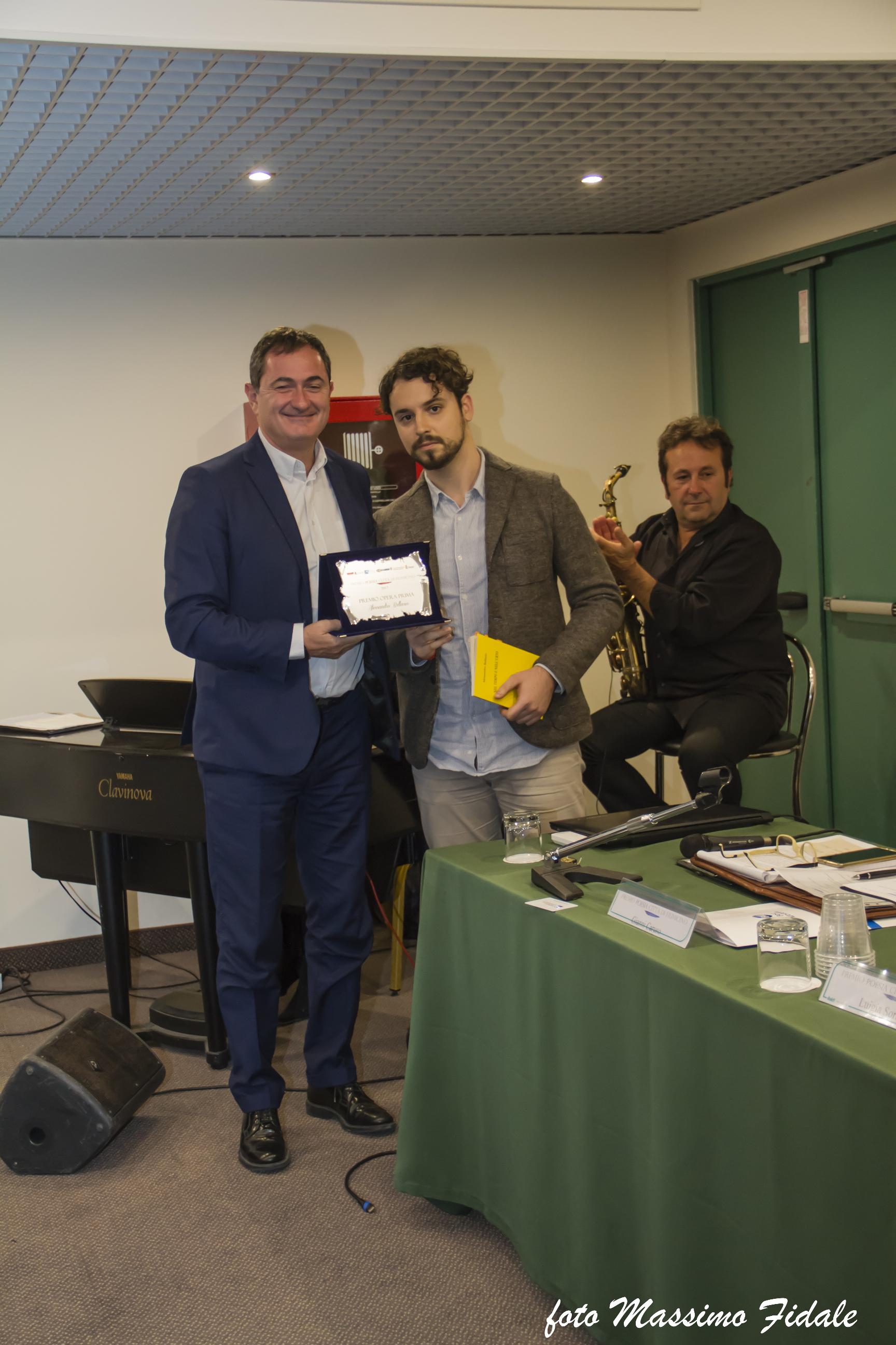 Paolo Masini premia Bellasio x Opera prima